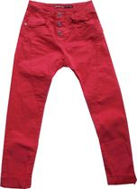 PLEASE coole Baggystylepant fragola red Colortwill sichtbarer Knopfverschluß P78A CV9M07