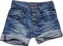 Please Now freche Damen Krempelshorts blu denim Knöpfe P88A BQ2EOT