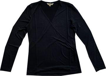 Herrlicher Damen Edelshirt schwarz Wickeloptik Candice 8319