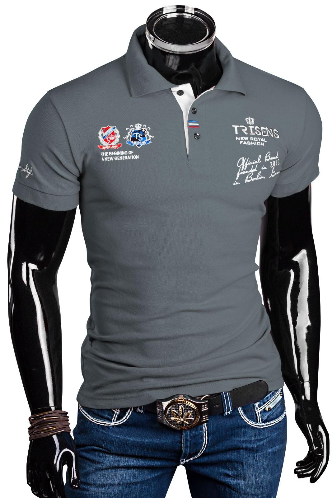 trisens herren polo shirt slim fit herren mode t shirts. Black Bedroom Furniture Sets. Home Design Ideas