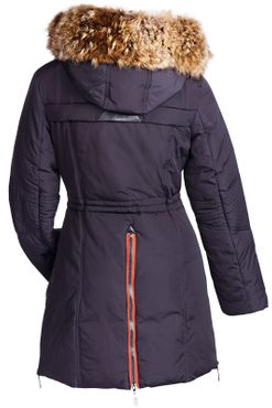 Damen Winterjacke Mantel Fell 2in1 Kapuze – Bild 11