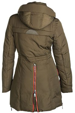 Damen Winterjacke Mantel Fell 2in1 Kapuze – Bild 16