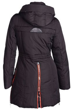 Damen Winterjacke Mantel Fell 2in1 Kapuze – Bild 20