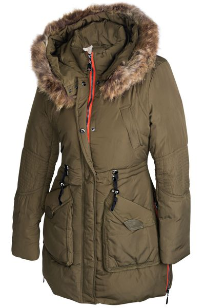 Damen Winterjacke Mantel Fell 2in1 Kapuze – Bild 13