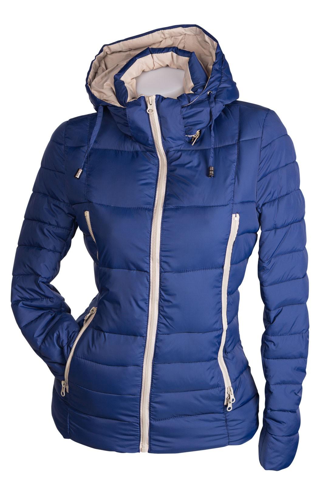 sportliche damen fr lingsjacke mit kapuze daunen optik skijacke damen mode jacken. Black Bedroom Furniture Sets. Home Design Ideas