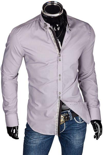 Slim Fit Herren Hemd Figurbetont – Bild 2