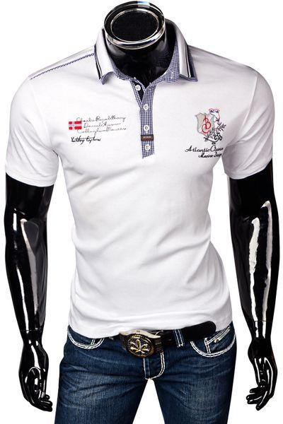 Bruno Conte Herren T-Shirt Poloshirt Mit Doppelkragen Slim Fit – Bild 6