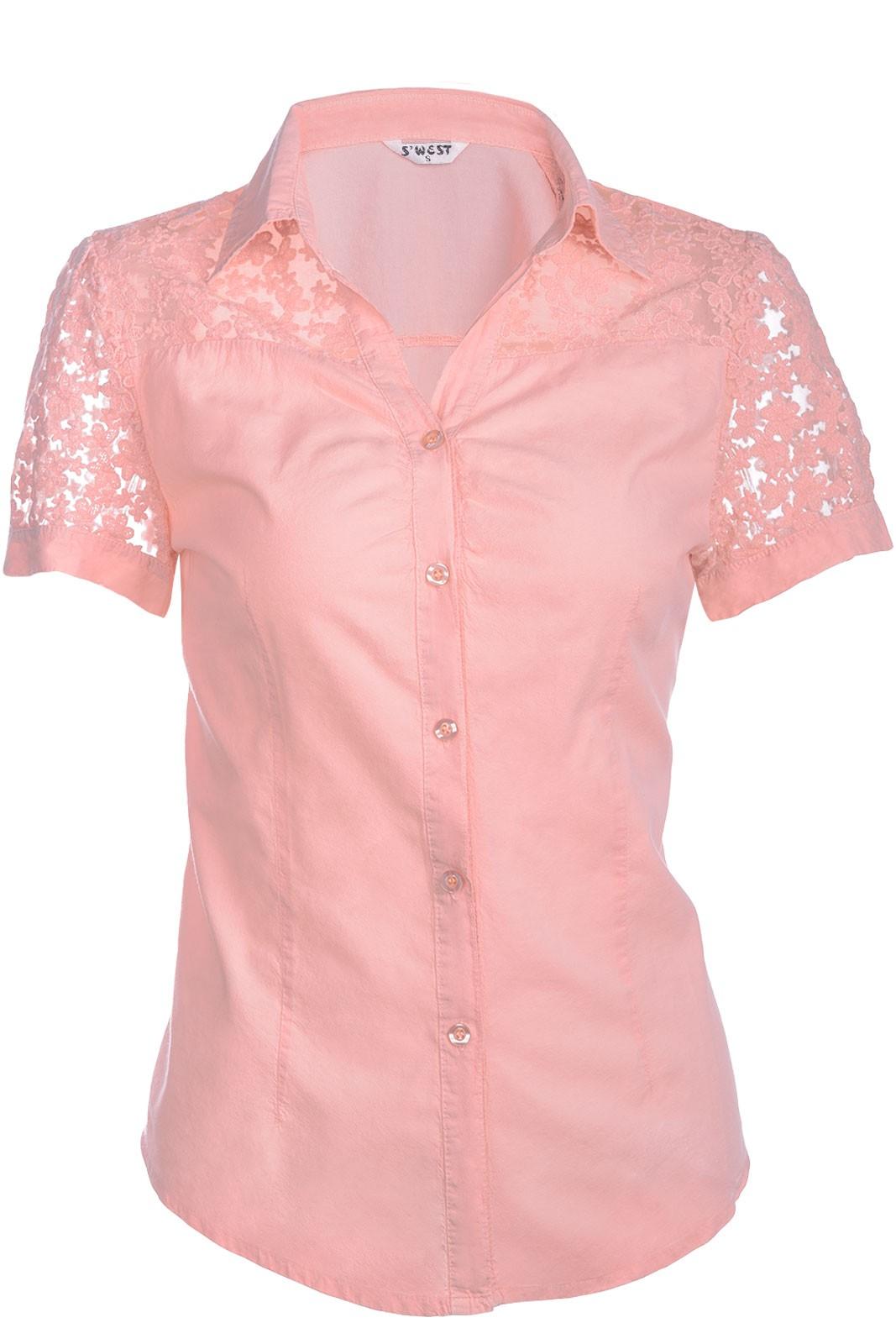 damen bluse sommer hemd tunika v ausschnitt kurzarm baumwolle t shirt spitze ebay. Black Bedroom Furniture Sets. Home Design Ideas