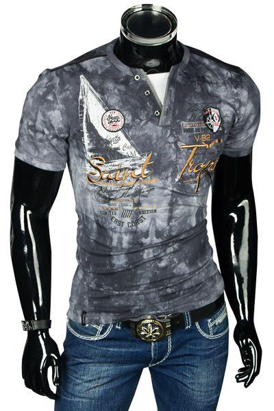 Herren Designer T-Shirt Poloshirt Slim Fit – Bild 14