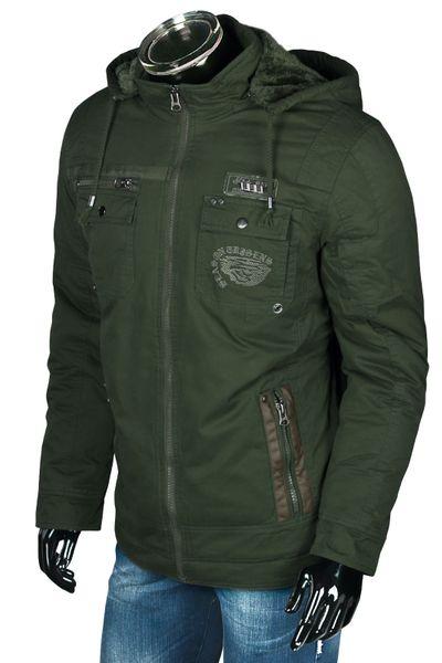 Herren Winterjacke Military Style Gefüttert mit Kapuze – Bild 8