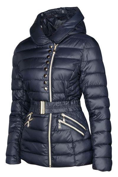 Damen Winter Jacke Daunen Optik Gefüttert Mit Kapuze – Bild 8