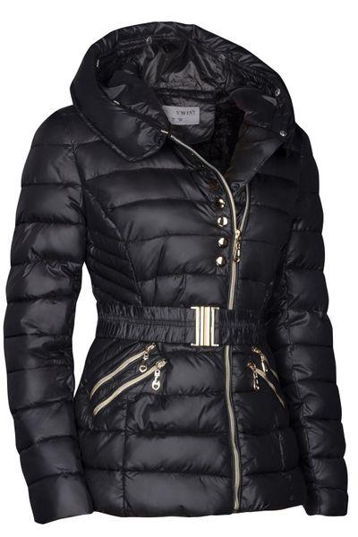 Damen Winter Jacke Daunen Optik Gefüttert Mit Kapuze – Bild 3