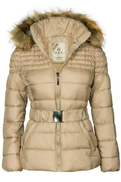 Damen Winterjacke Mit abnehmbarer Kapuze Steppjacke Übergangsjacke – Bild 17