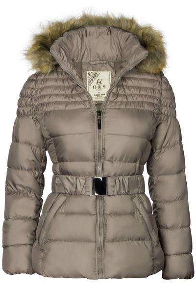 Damen Winterjacke Mit abnehmbarer Kapuze Steppjacke Übergangsjacke – Bild 22