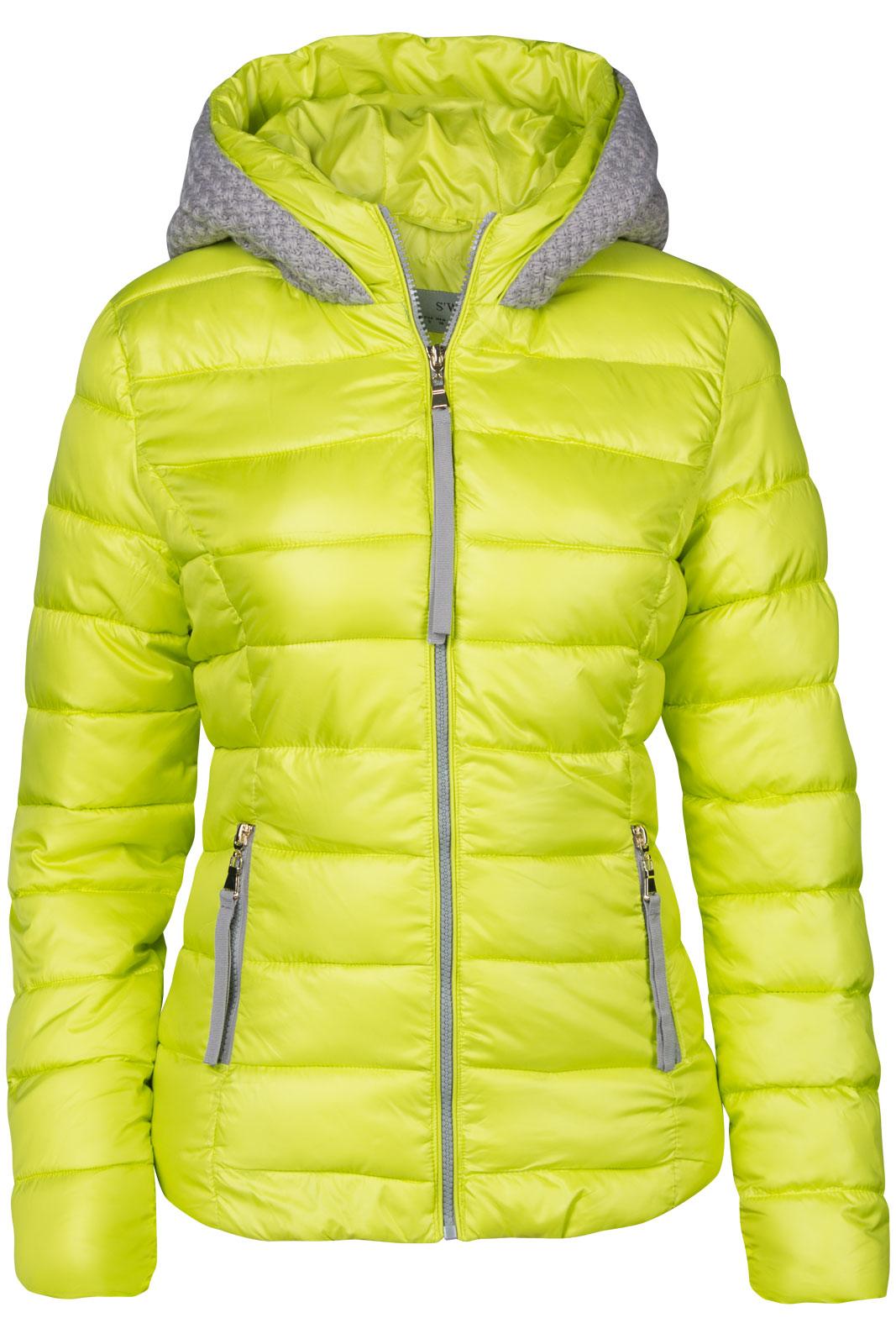 damen winter jacke stepp daunen optik gestrickt kapuze skijacke mantel kurz ebay. Black Bedroom Furniture Sets. Home Design Ideas