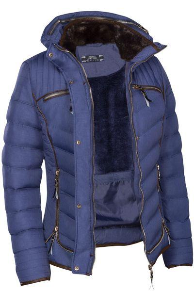 Damen Winterjacke Steppjacke Gefüttert Mit Kapuze Daunenoptik in den Größen S M L XL XXL – Bild 23