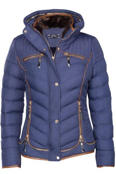 Damen Winterjacke Steppjacke Gefüttert Mit Kapuze Daunenoptik in den Größen S M L XL XXL – Bild 15