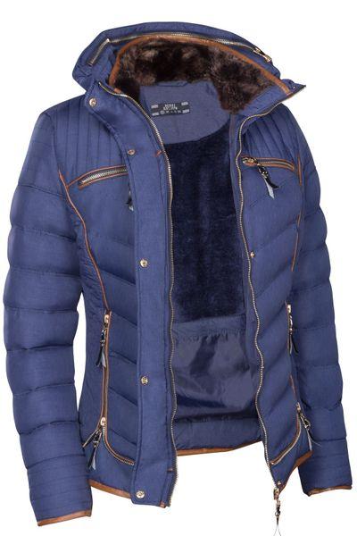 Damen Winterjacke Steppjacke Gefüttert Mit Kapuze Daunenoptik in den Größen S M L XL XXL – Bild 17