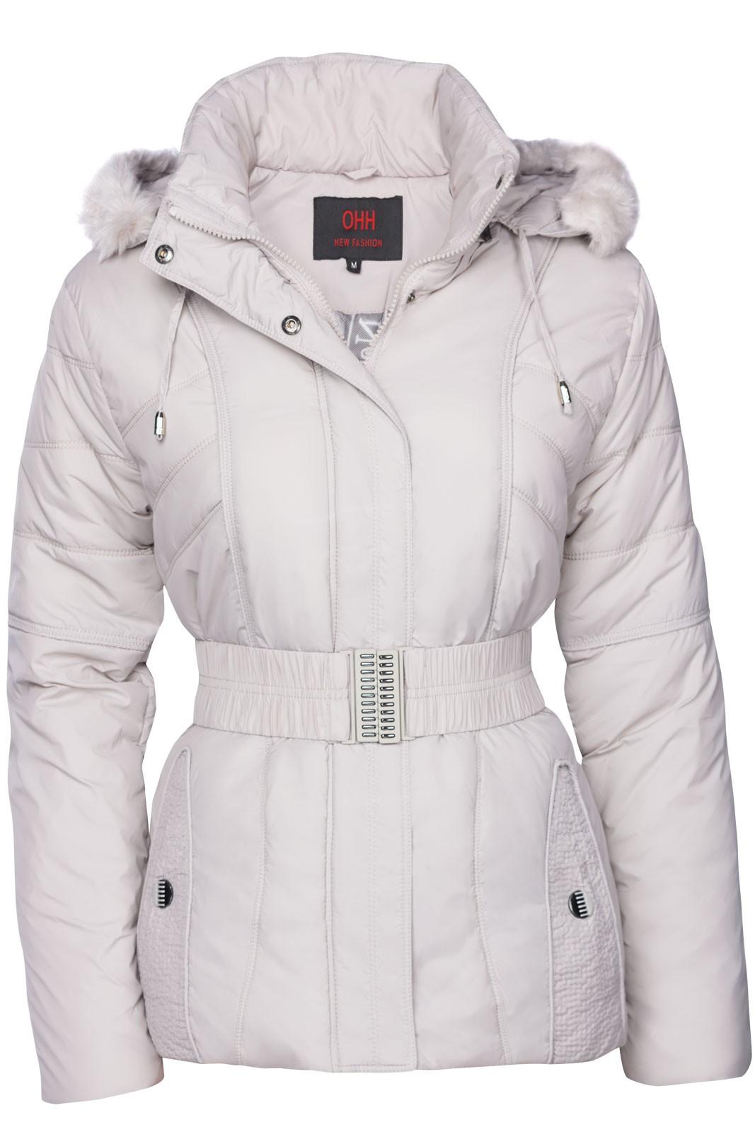 top damen winter jacke stepp daunen optik fell kapuze skijacke kurz mantel ebay. Black Bedroom Furniture Sets. Home Design Ideas