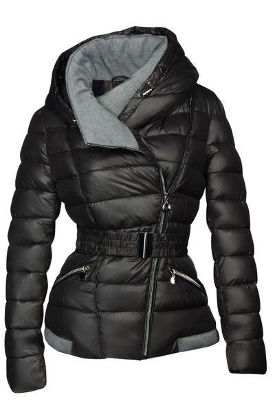 Damen Steppjacke mit Kapuze inkl. Taillengurt – Daunen-Look – gefütterte Winter-Ski-Jacke – Bild 7