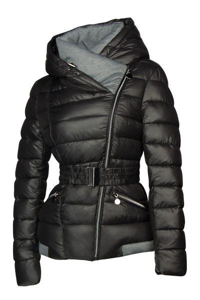 Damen Steppjacke mit Kapuze inkl. Taillengurt – Daunen-Look – gefütterte Winter-Ski-Jacke – Bild 8
