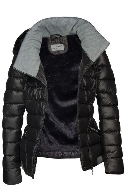 Damen Steppjacke mit Kapuze inkl. Taillengurt – Daunen-Look – gefütterte Winter-Ski-Jacke – Bild 10