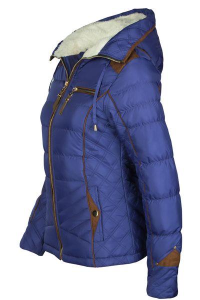 Damen Winterjacke Steppjacke Skijacke Daunenoptik mit Kapuze – Bild 4