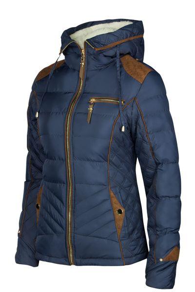Damen Winterjacke Steppjacke Skijacke Daunenoptik mit Kapuze – Bild 8