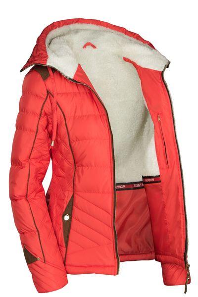 Damen Winterjacke Steppjacke Skijacke Daunenoptik mit Kapuze – Bild 15