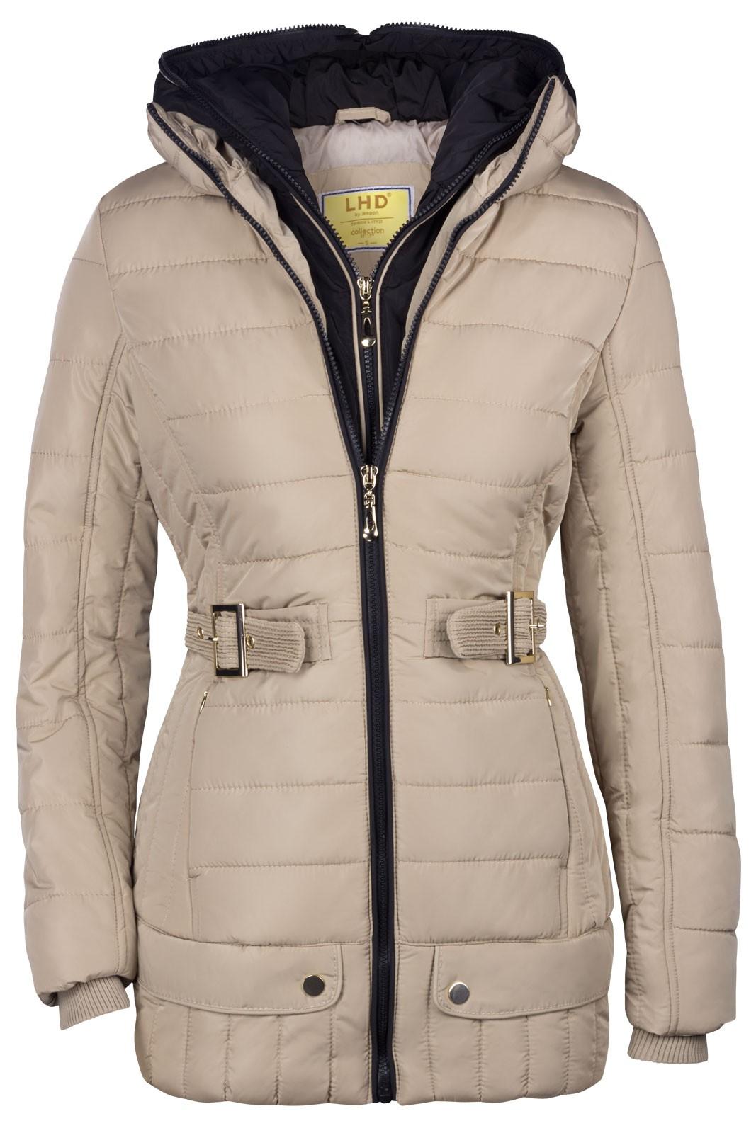neu damen winter stepp parka mantel jacke 2in1 kapuze lang alaska ebay. Black Bedroom Furniture Sets. Home Design Ideas