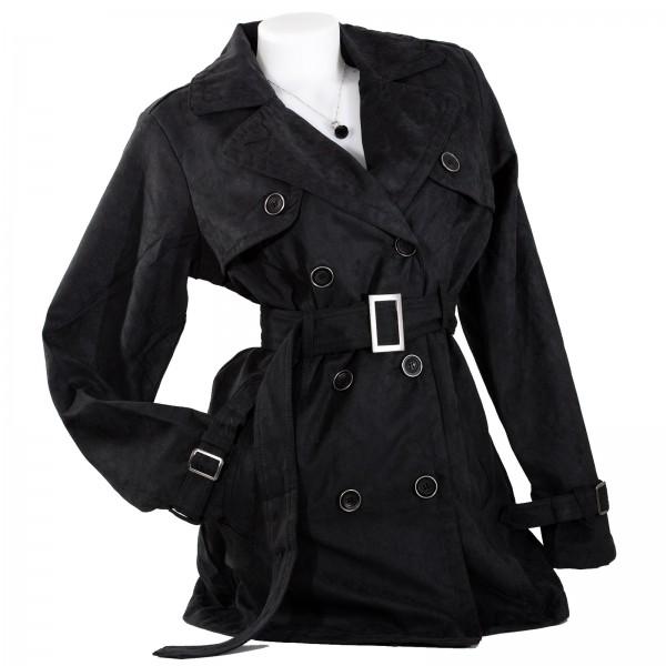 wholesale dealer 8b957 e9d9d Damen Jacke Wintermantel Trenchcoat Wildlederimitat SALE