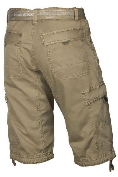 Herren Bermuda-Shorts aus Baumwolle inkl. Gürtel - Cargo-Hose – Bild 3