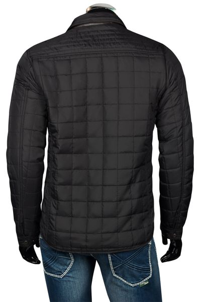 Herren Slim Fit Steppjacke mit Lederimitat Applikationen – Bild 11