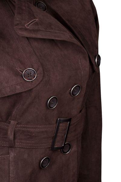 Damen Jacke Übergangsjacke Wildlederimitat Trenchcoat SALE – Bild 12