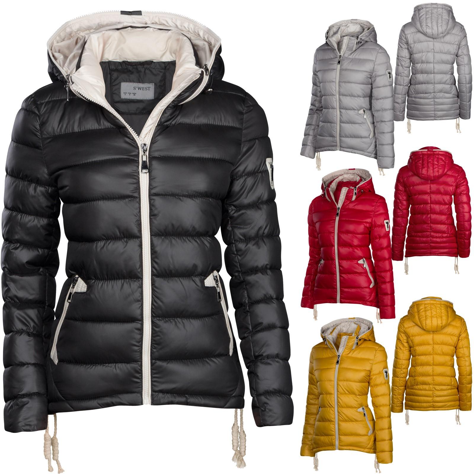 Ski Stepp Dauen Winter Damen Jacke Optik H2E9ID