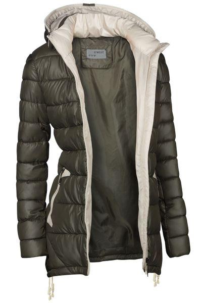 Damen Stepp Winter Mantel Übergangsmantel Lang Jacke Parka – Bild 10