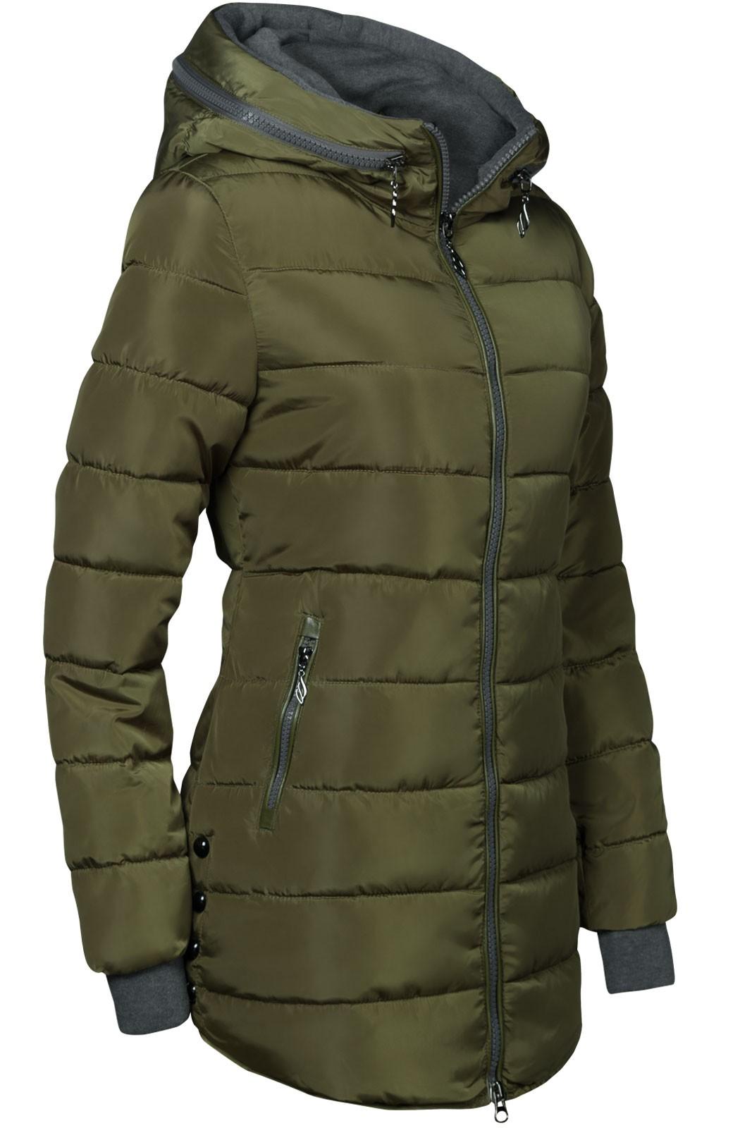 winter stepp mantel lang jacke gef ttert rmel mit daumenschlaufen damen mode m ntel. Black Bedroom Furniture Sets. Home Design Ideas