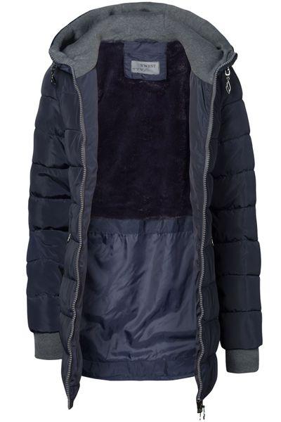 Winter Stepp Mantel Lang Jacke Gefüttert Ärmel mit Daumenschlaufen – Bild 10