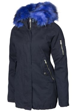 Damen Winter Cotton Mantel Parka Teddy Bunt Fell Kragen – Bild 3