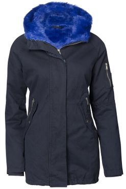 Damen Winter Cotton Mantel Parka Teddy Bunt Fell Kragen – Bild 7