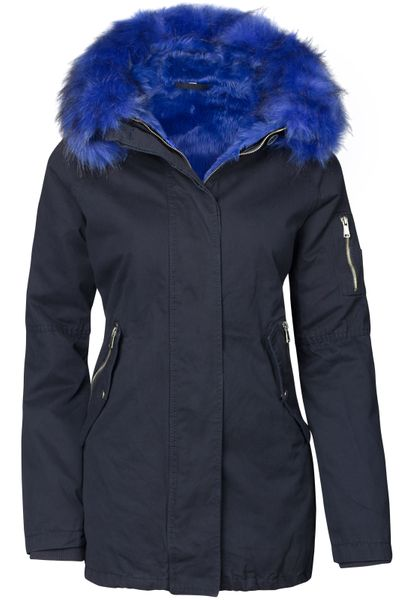 Damen Winter Cotton Mantel Parka Teddy Bunt Fell Kragen – Bild 2