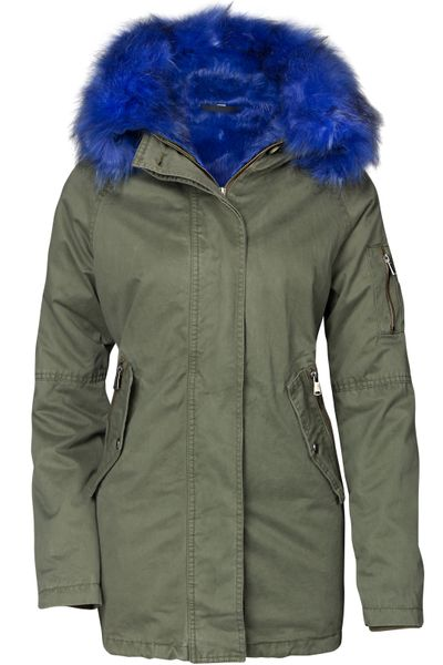Damen Winter Cotton Mantel Parka Teddy Bunt Fell Kragen – Bild 10