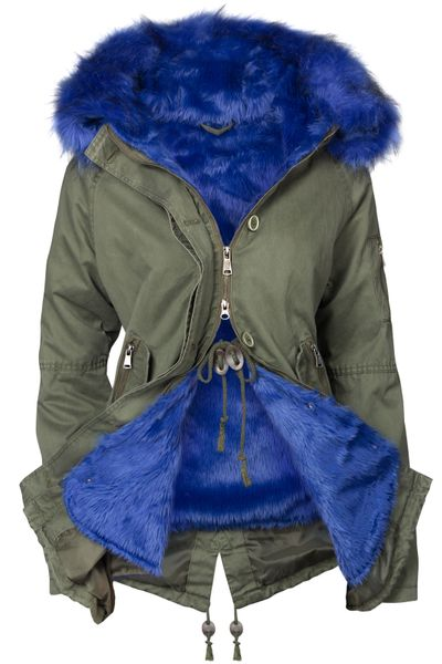 Damen Winter Cotton Mantel Parka Teddy Bunt Fell Kragen – Bild 13