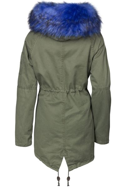Damen Winter Cotton Mantel Parka Teddy Bunt Fell Kragen – Bild 14