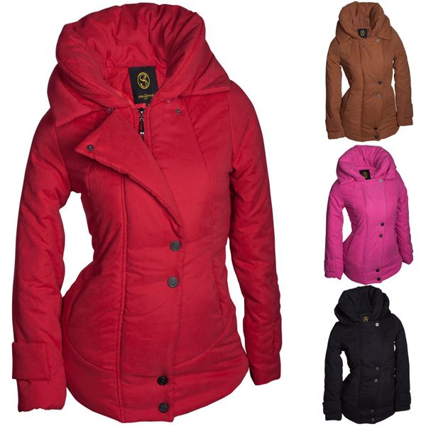 Winter Damen Jacke Parka Kapuze Mantel Daunen Winterjacke Outdoor Warm S M L XL – Bild 1