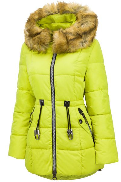 Damen Winter Stepp Mantel Lang Pelz Kragen – Bild 13