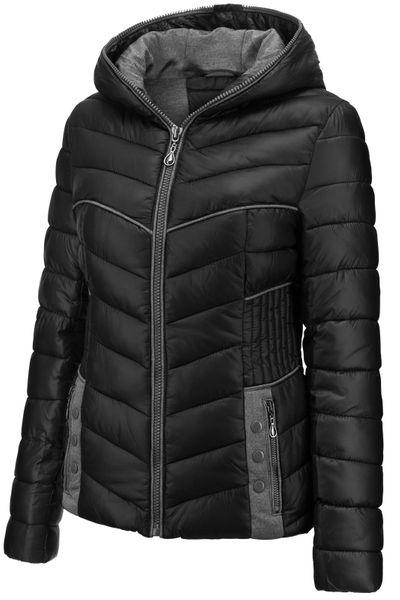 Damen Winter Stepp Jacke Übergangsjacke Herbst Kurz mit Kapuze – Bild 18