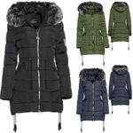 Trisens Damen Winter Parka Lang Fell Kapuze 001