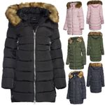Trisens Damen Winter Parka Fell Kapuze Warm Gefüttert
