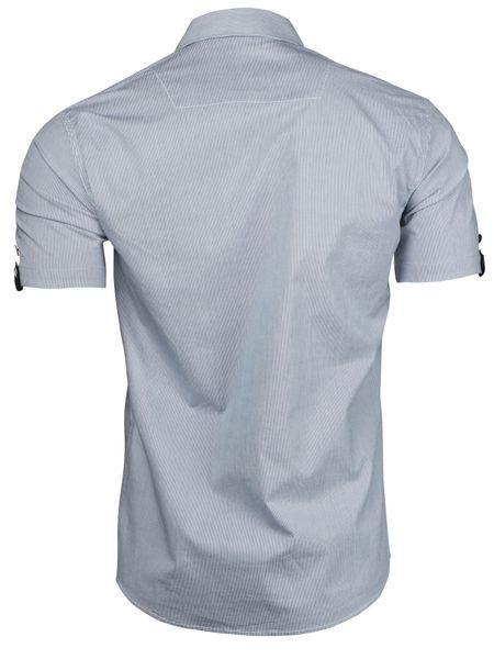 Trisens Herren Hemd gestreicht Kurzarm Baumwolle – Bild 3